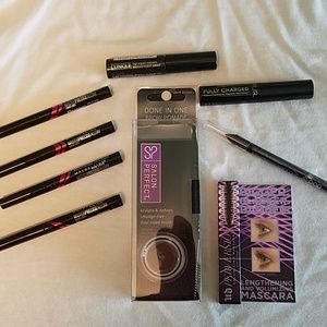 Liquid eyeliner black mascara and brow bundle